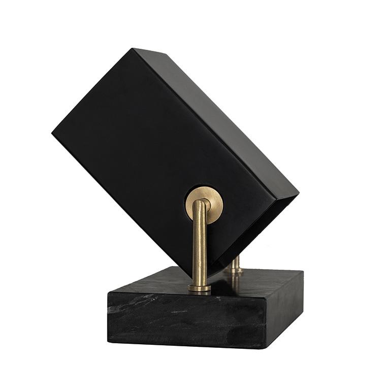 Box golv/bordslampa svart