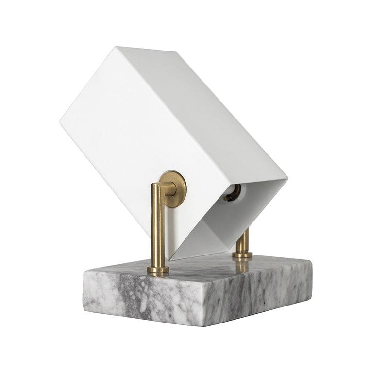 Box golv/bordslampa vit