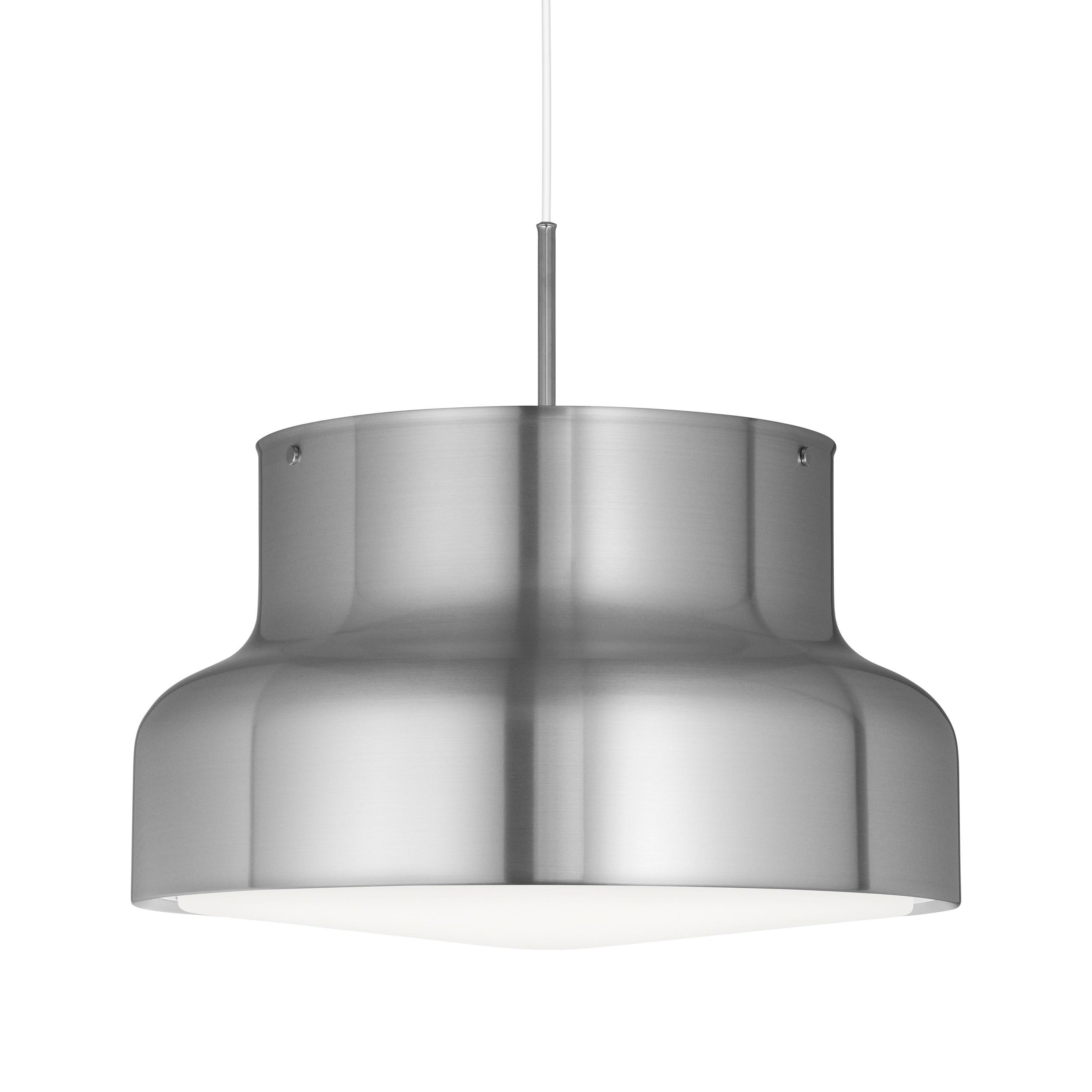 Bumling Ø600 med ringraster i akryl borstad aluminium