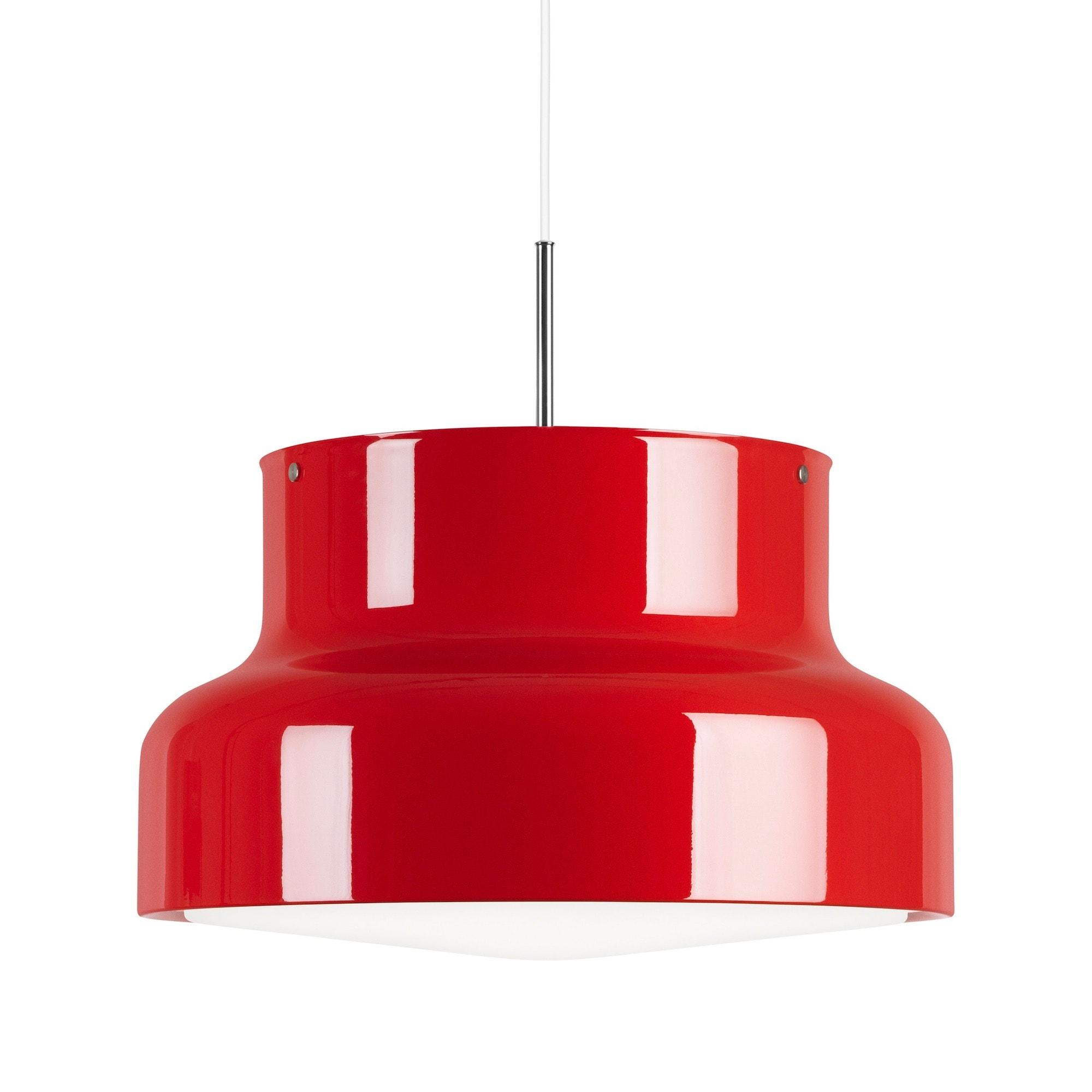 Bumling Ø600 med ringraster i akryl röd