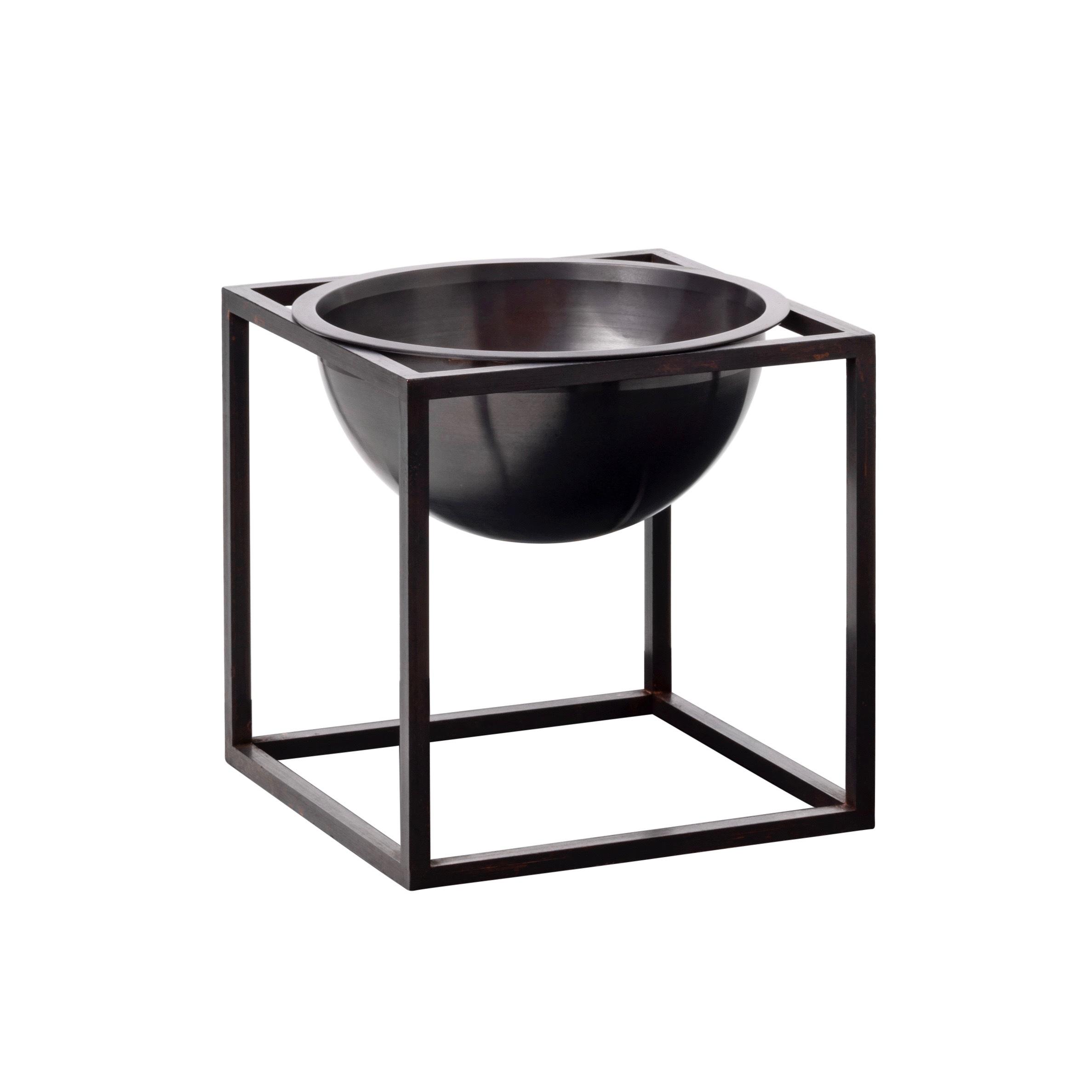Kubus bowl liten bränd koppar