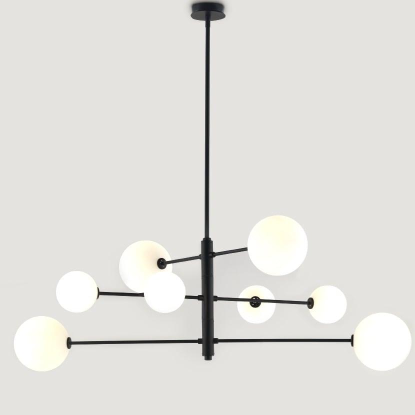 Atom taklampa svart/opal