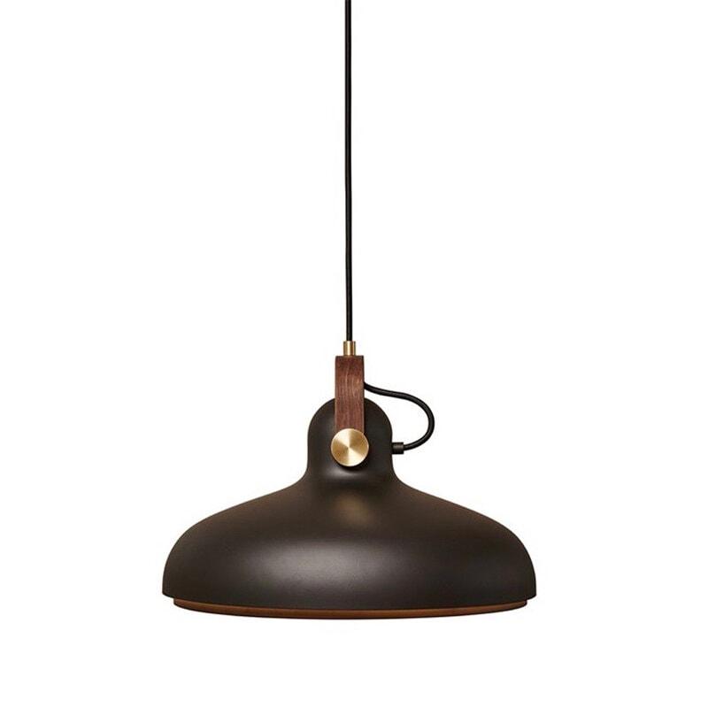 Carronade large taklampa svart/valnöt