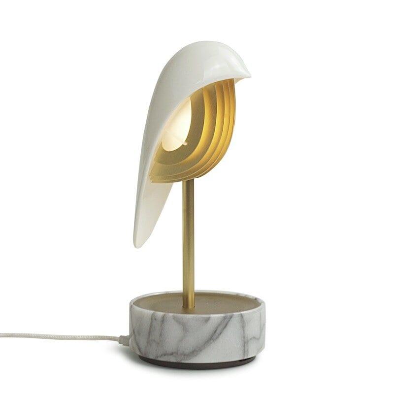 Chirp bordslampa/väckarklocka white gold