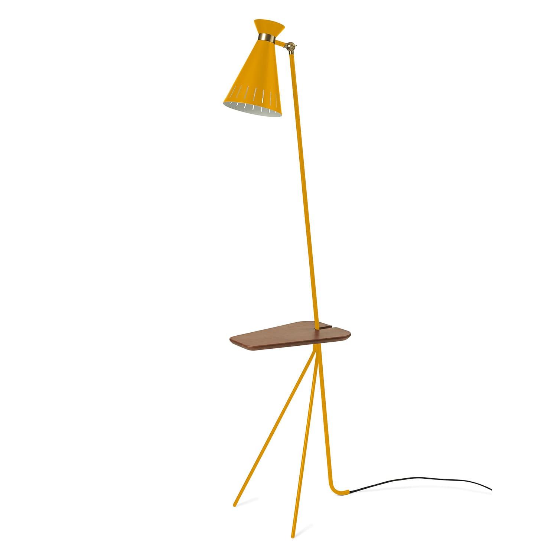 Cone golvlampa med bord honey yellow