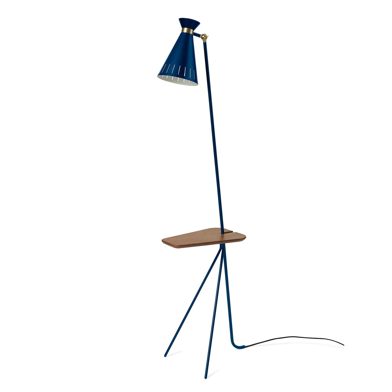 Cone golvlampa med bord azure blue