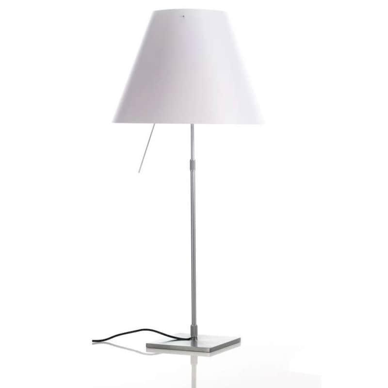 Costanza D13c Bordslampa Aluminium, vit skärm