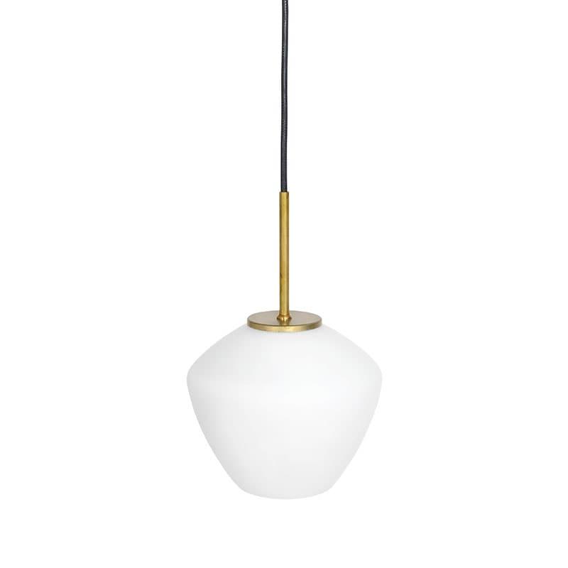 DK 1:A taklampa råmässing/opalglas