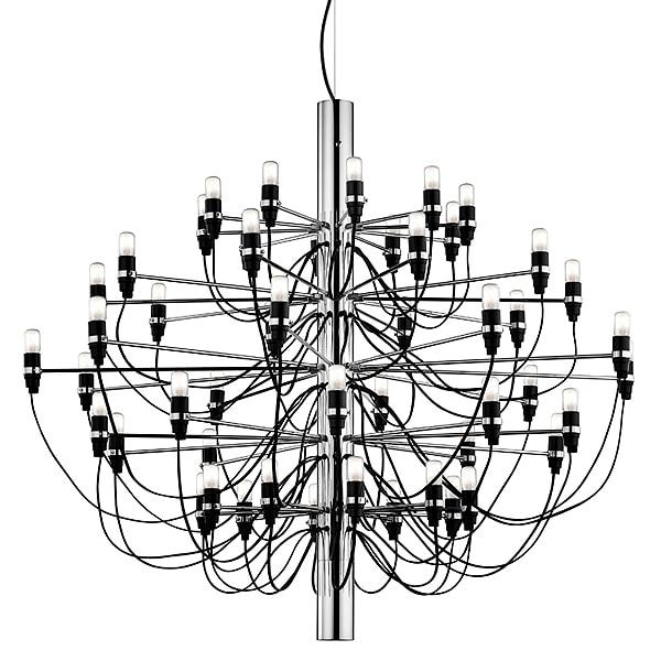 2097/50 Sarfatti LED Taklampa krom