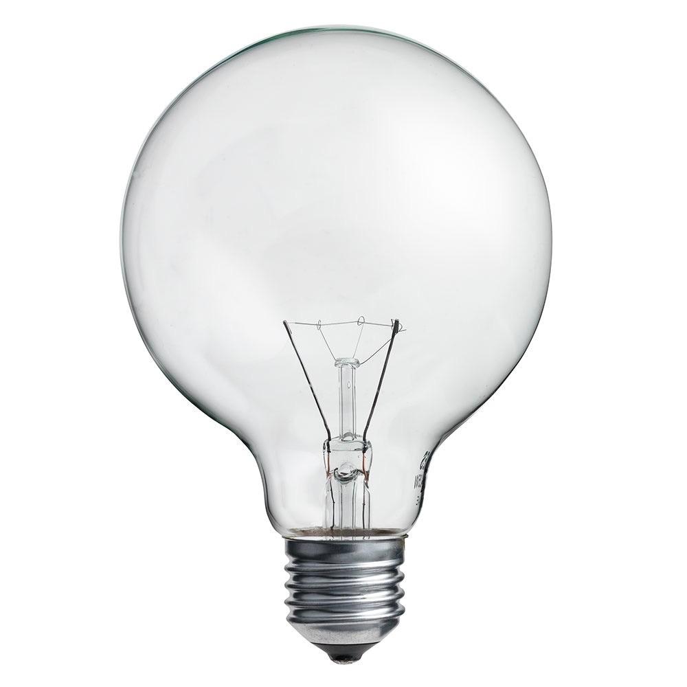 Glödlampa Glob 95mm 25W E27 Klar