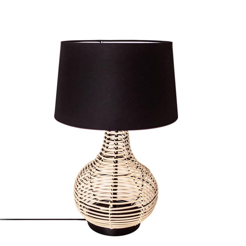 Granada bordlampa H58cm Natur/svart