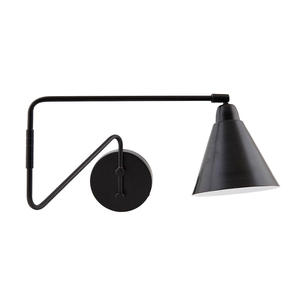 Game Vägglampa lång svart