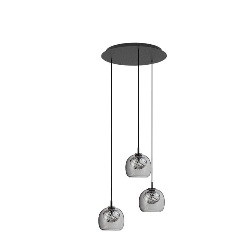 Inside TRIPLETTE taklampa grå/klar