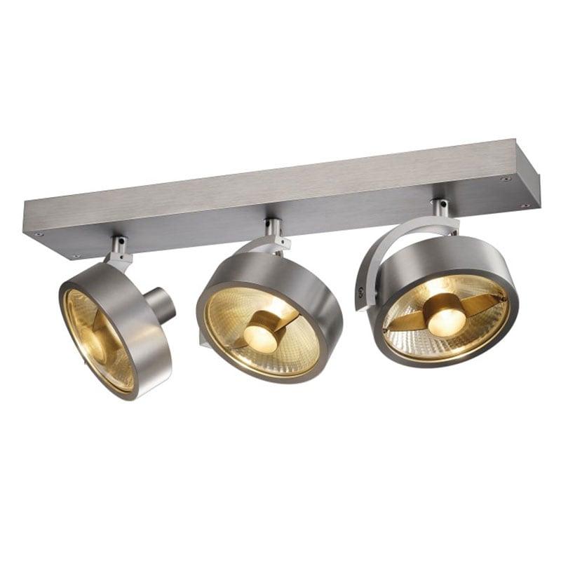 Kalu 3:a QPAR111 LED vägg/taklampa borstad aluminium