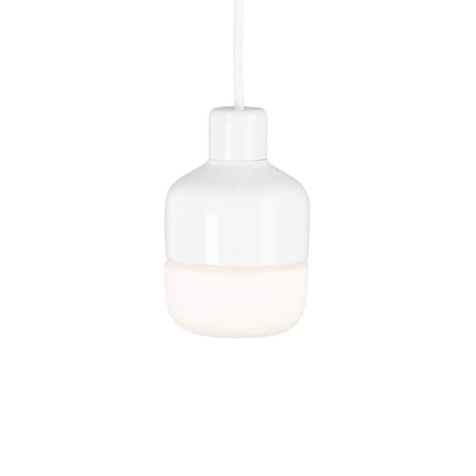 Ohm 100/155 taklampa opalglas/vit