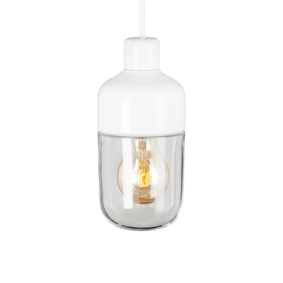 Ohm 100/215 taklampa klarglas/vit