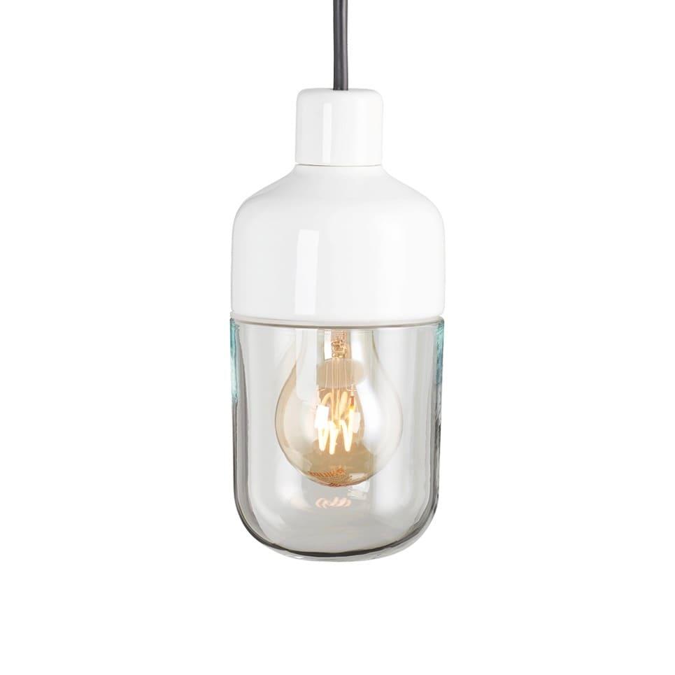 Ohm outdoor 100/215 taklampa klarglas/vit