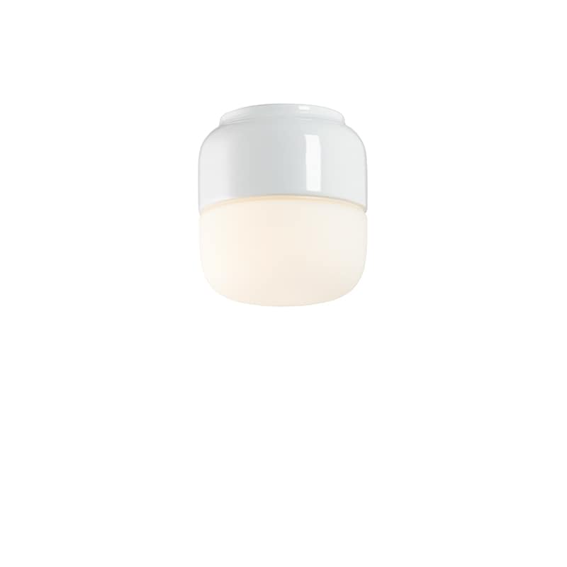 Ohm 100/110mm LED tak/vägglampa opalglas/vit