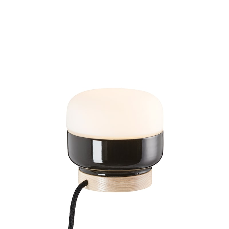 Ohm 140/135mm bordslampa opalglas/svart