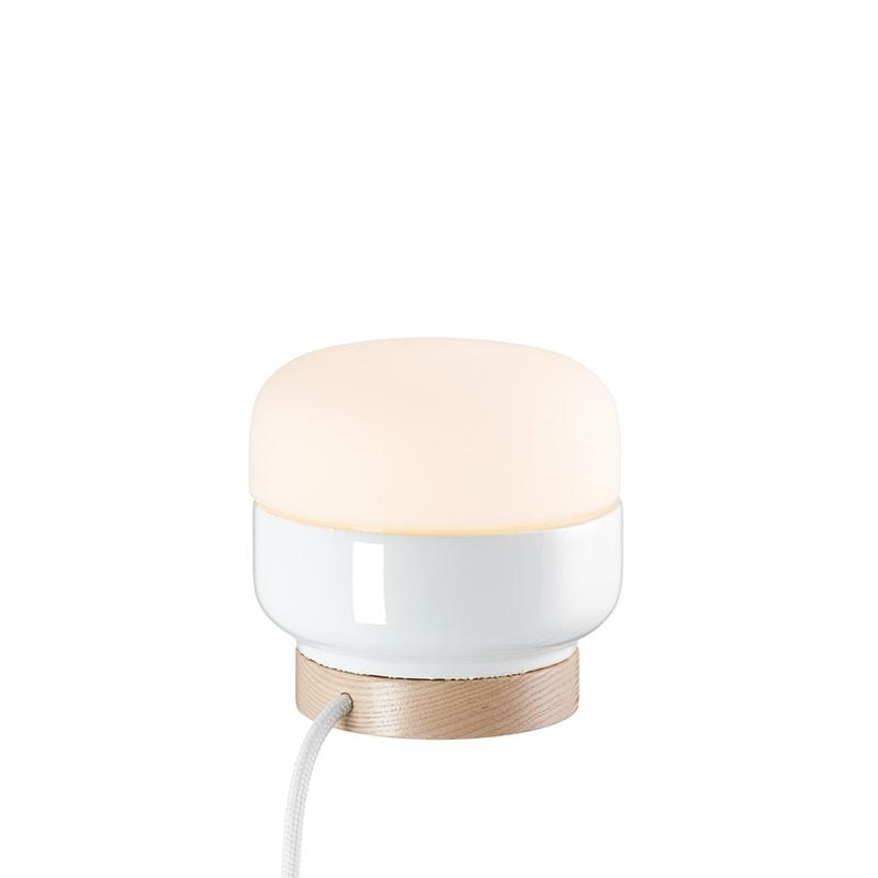 Ohm 140/135mm bordslampa opalglas/vit