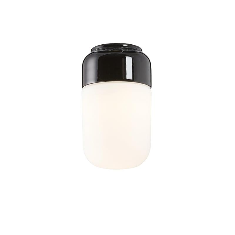 Ohm 100/170mm LED tak/vägglampa opalglas/svart