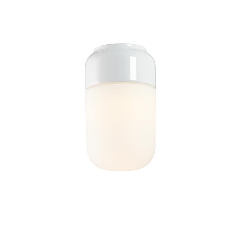 Ohm 100/170mm LED tak/vägglampa opalglas/vit