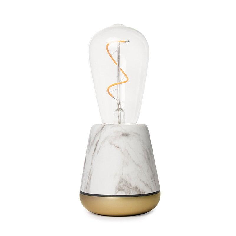 One Bordslampa vit marmor