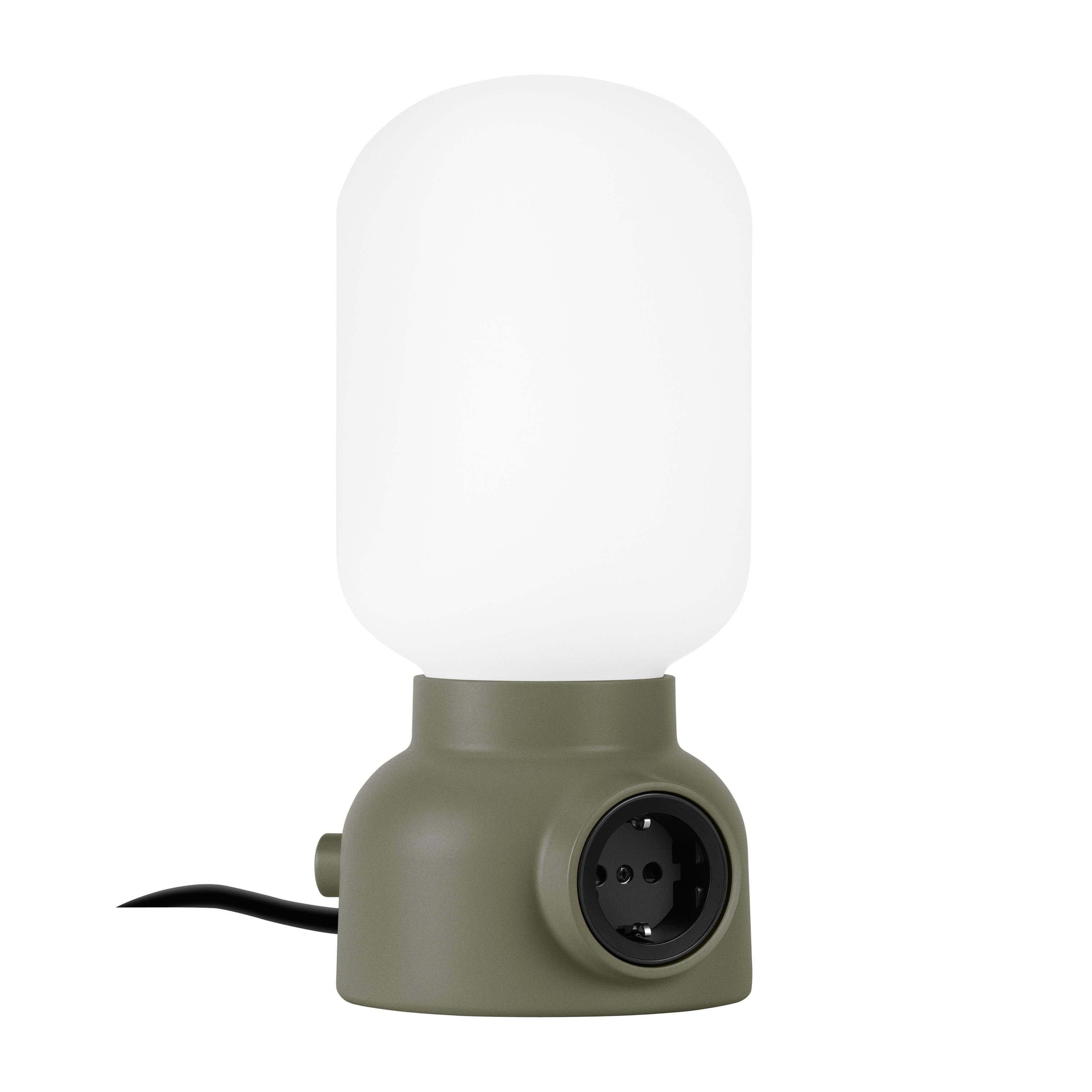 Plug Lamp bordslampa pudergrön