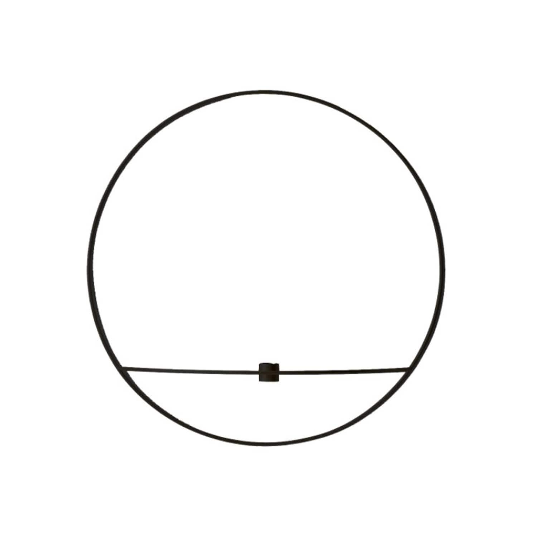 POV circle Ljushållare vägg L svart