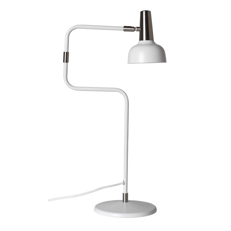 Ray bordslampa vit/nickel