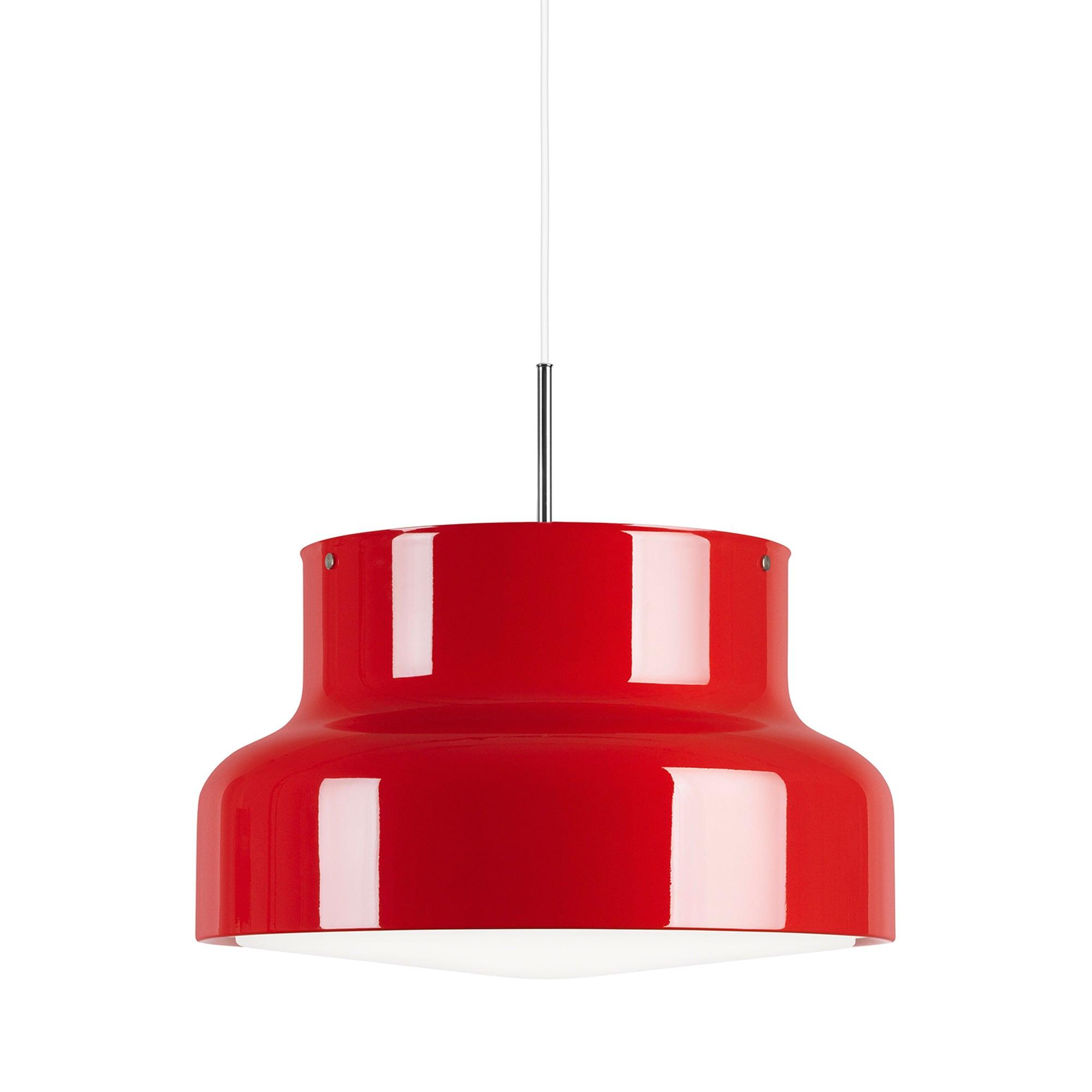 Bumling Ø400 med ringraster i akryl röd