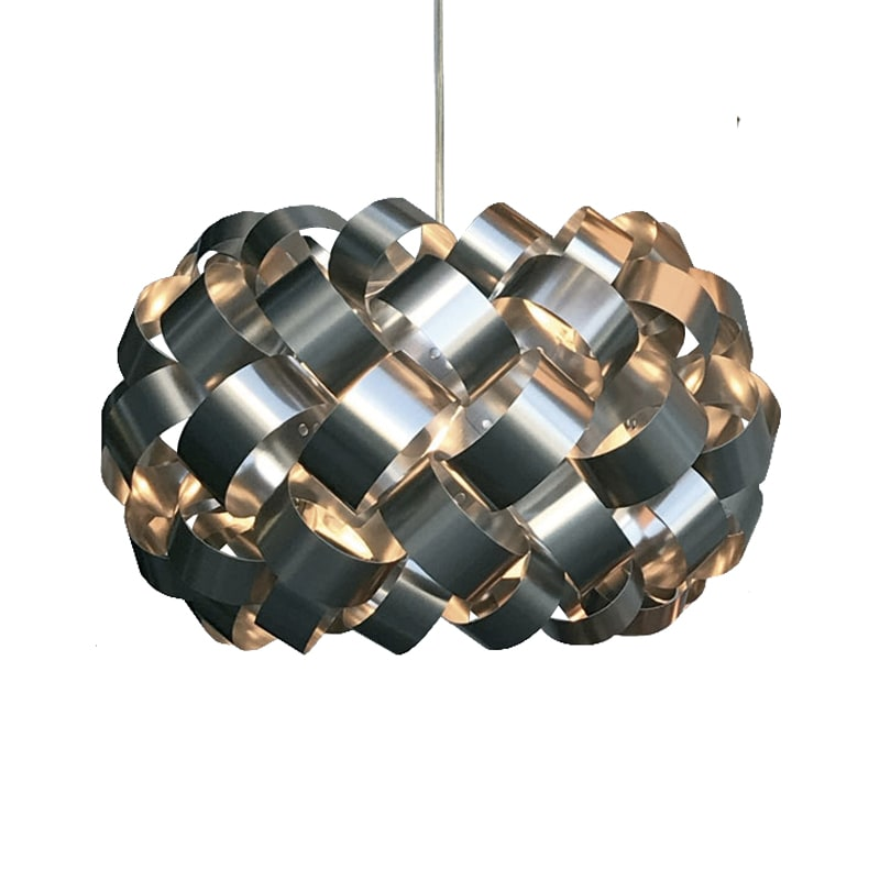 Ring Ø500 taklampa nickel