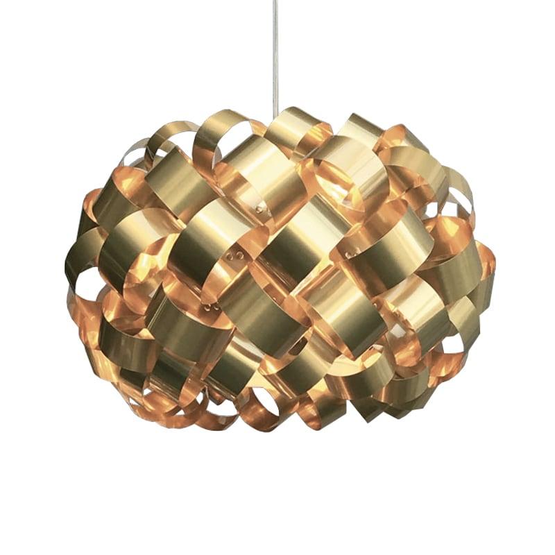 Ring Ø500 taklampa guld