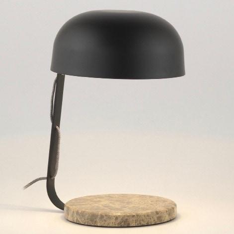 Marble bordslampa svart
