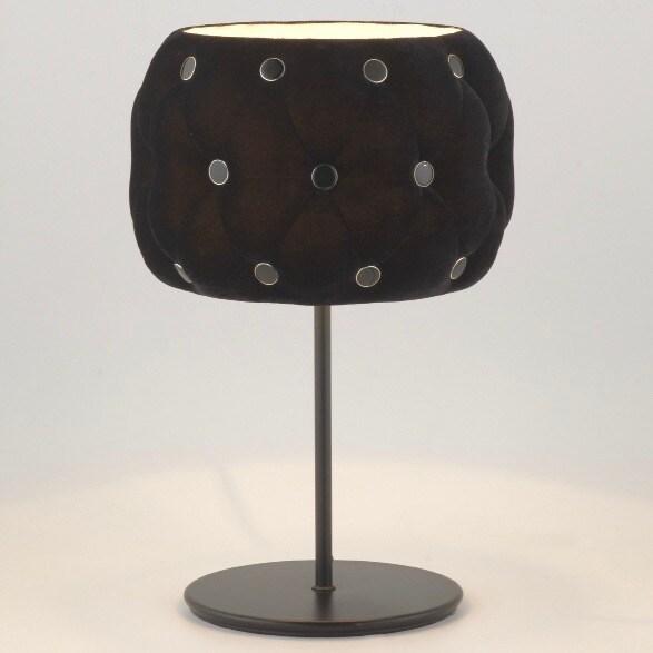 Chateau velvet bordslampa svart