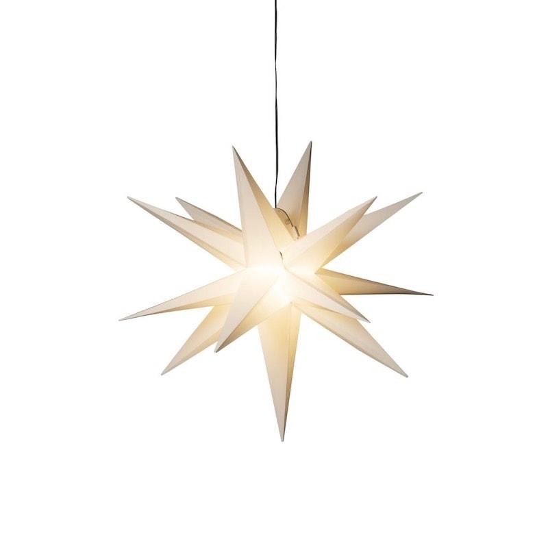 Stjärna 3-D Ø60 vit