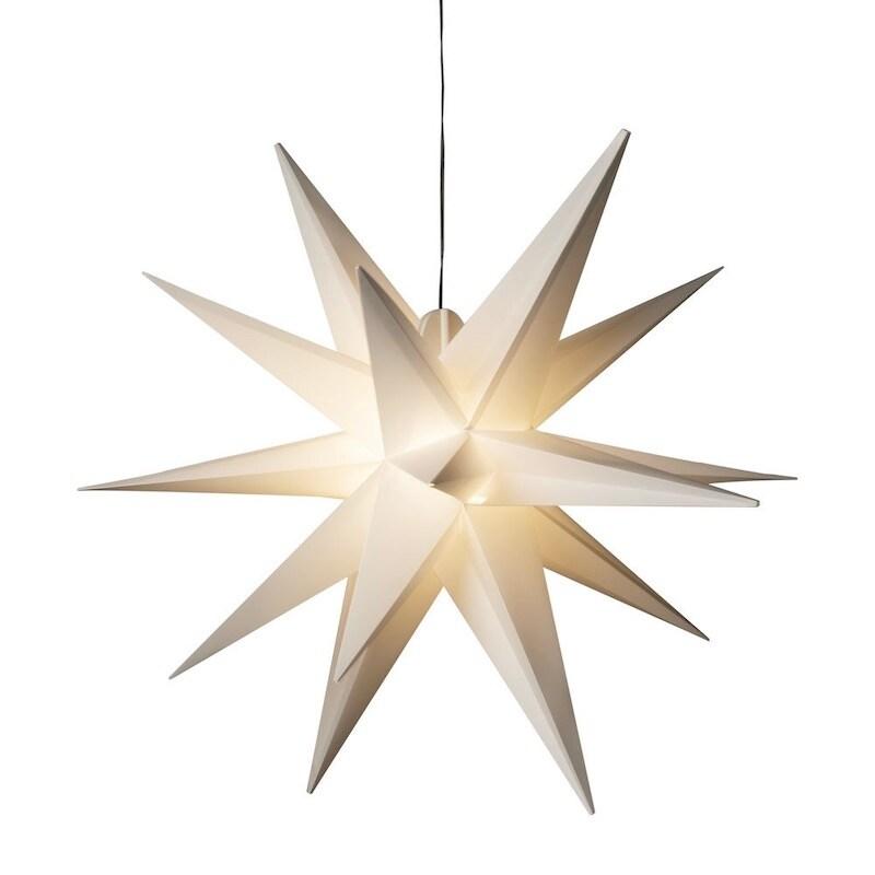 Stjärna 3-D Ø80 vit