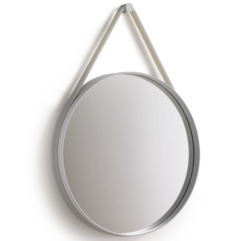 Strap mirror Ø70 grey