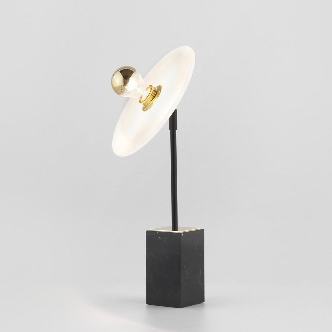 Sun light bordslampa svart/alabaster