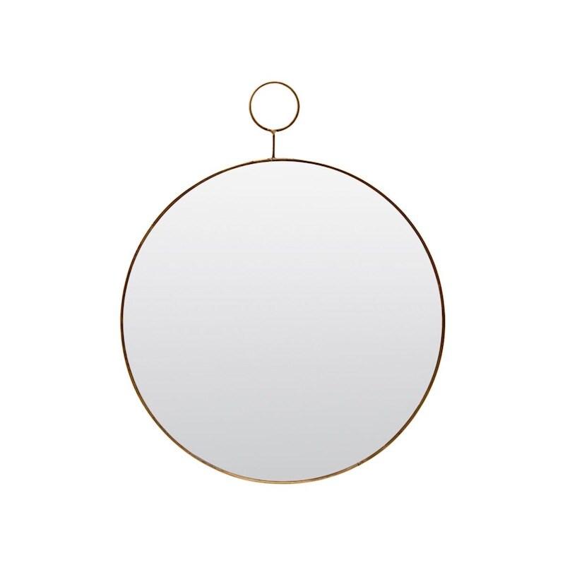 The Loop spegel mässing