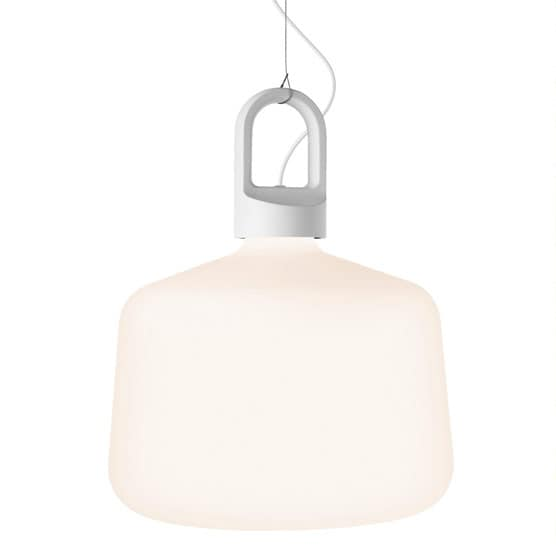 Bottle Golv/bordslampa Utomhus vit