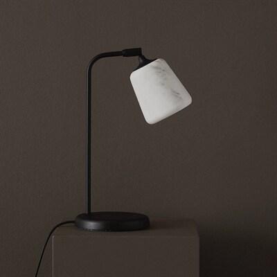 Material bordslampa vitt opalglassvart New Works