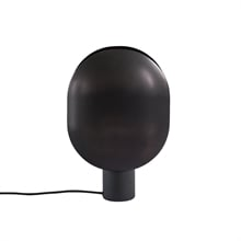 110048-1 CLAM TABLE LAMP BURNED BLACK-2