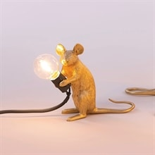Mouse Lamp Mac Sitting bordslampa Gold/black