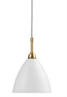 BL9 S Taklampa matt white/brass