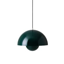 Flowerpot VP7 taklampa dark green