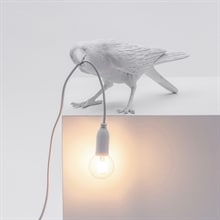 Bird Lamp Playing outdoor bordslampa vit