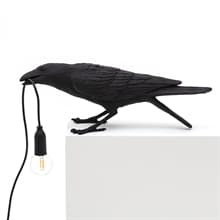 Bird Lamp Playing bordslampa svart