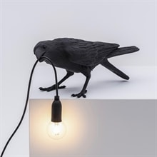 Bird Lamp Playing outdoor bordslampa svart
