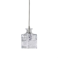 Jeeves crystal carafe Taklampa silver